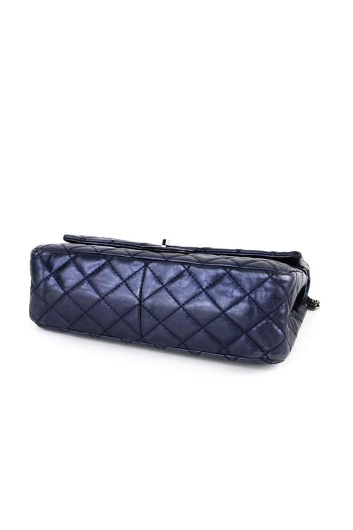 CHANEL Navy 226  Reissue Double Flap  5