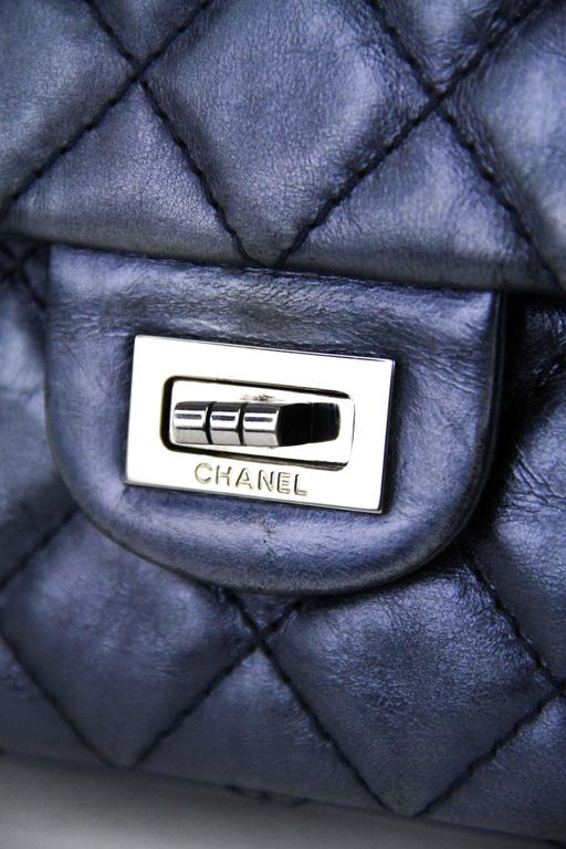CHANEL Navy 226  Reissue Double Flap  6