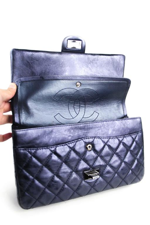 CHANEL Navy 226  Reissue Double Flap  7