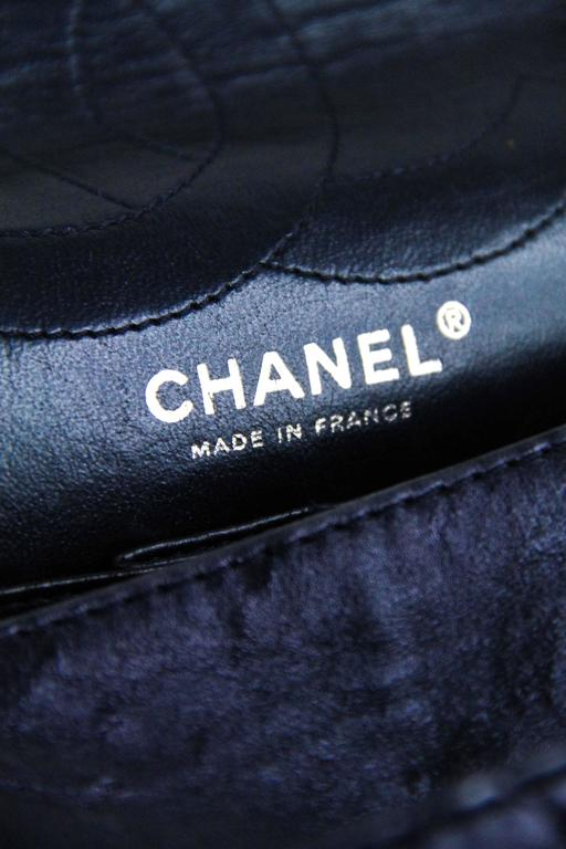 CHANEL Navy 226  Reissue Double Flap  8