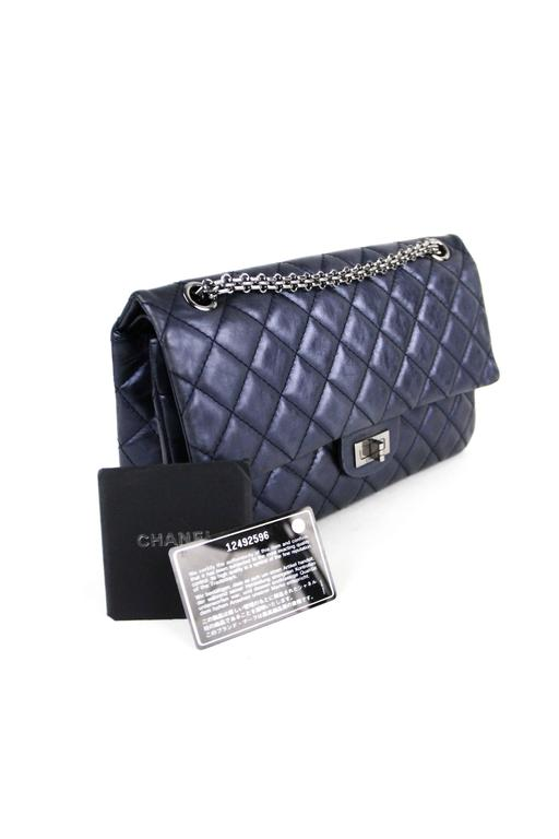 CHANEL Navy 226  Reissue Double Flap  10