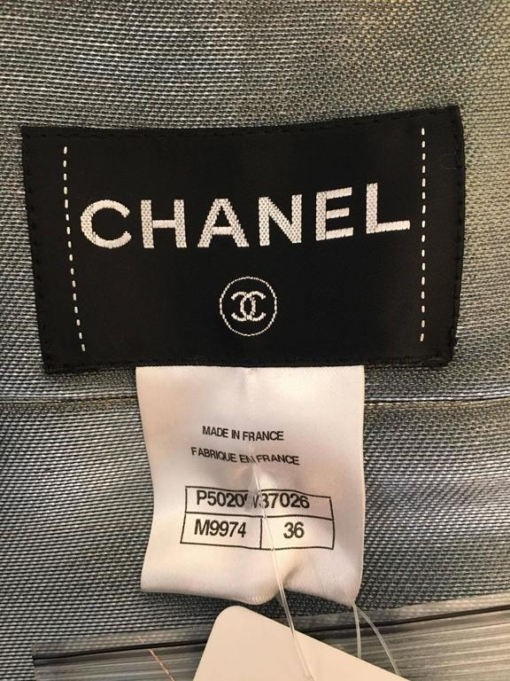 CHANEL white/grey/black jacket size 36 4