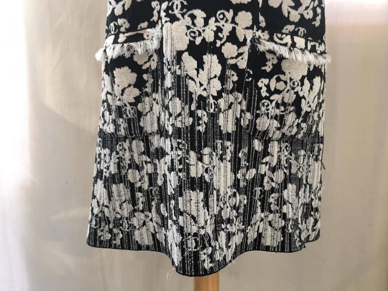 CHANEL Black/White Printed CC Dress size 38 6