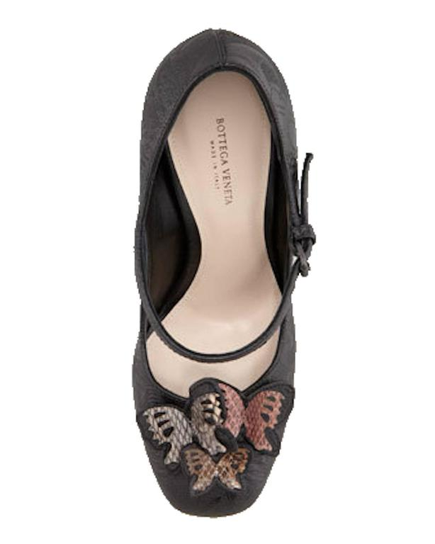 Impressive Bottega Veneta Butterfly Platform Mary Jane Statement Heels 5