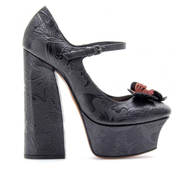 Impressive Bottega Veneta Butterfly Platform Mary Jane Statement Heels 2