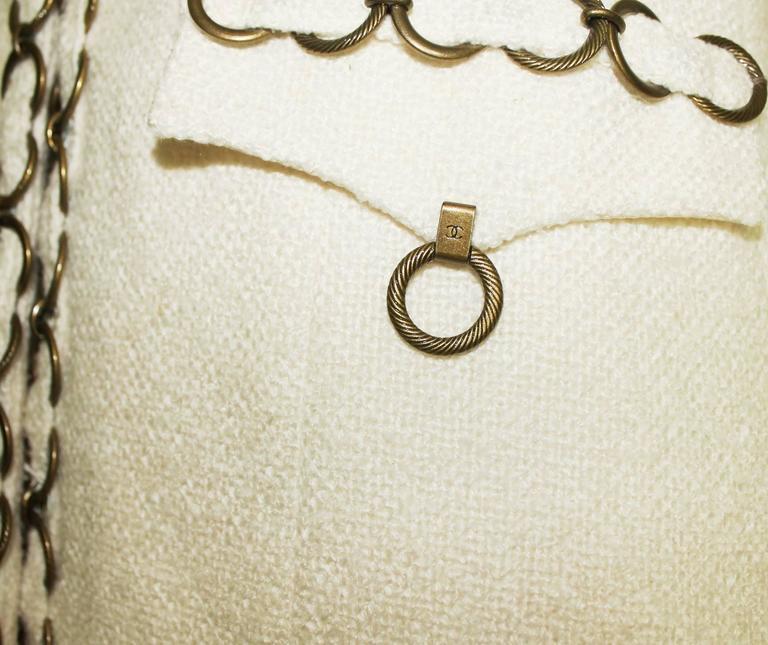 CHANEL Maison Lesage Silk Chain Trouser Pant Suit 5