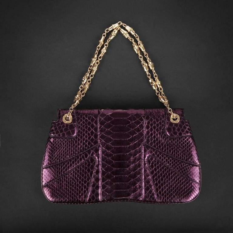 24a40715c01 EXTREMELY RARE GUCCI BY TOM FORD GORGEOUS FULL PYTHON SNAKE SKIN EVENING BAG  WITH GORGEOUS JEWELED