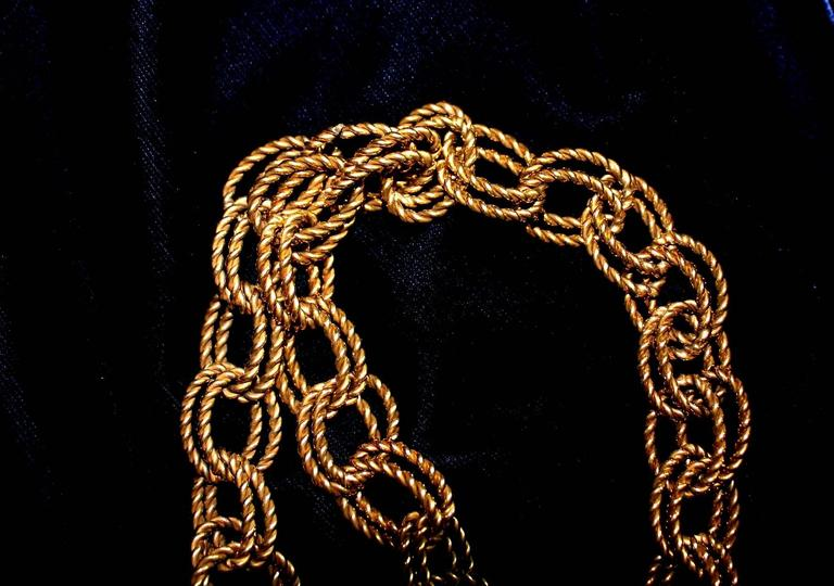 Stunning Dolce & Gabbana Midnight Blue Velvet Chain Empire Dress 6
