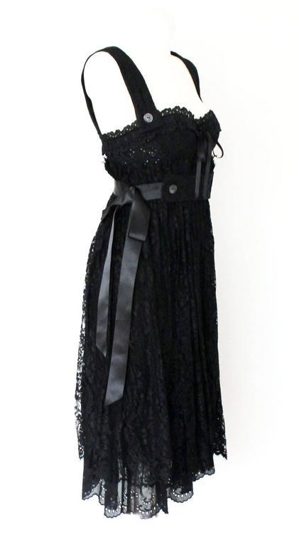 Dolce & Gabbana Black Corset Lace Dress 2