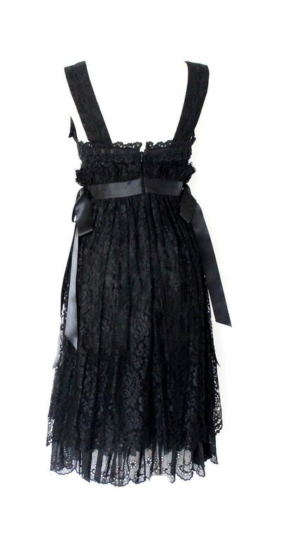 Dolce & Gabbana Black Corset Lace Dress In New never worn Condition For Sale In Switzerland, CH