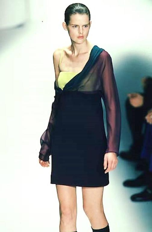 Rare Gianni Versace Couture Fw 1997 Colorblock Dress For Sale 1
