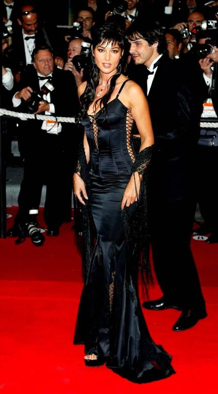"""Rare Dolce & Gabbana Lace Up """"Bond Girl"""" Evening Gown For Sale 2"""