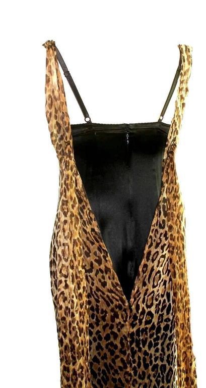 Stunning Dolce & Gabbana Corset Leopard Cheetah Print Silk Gown 7