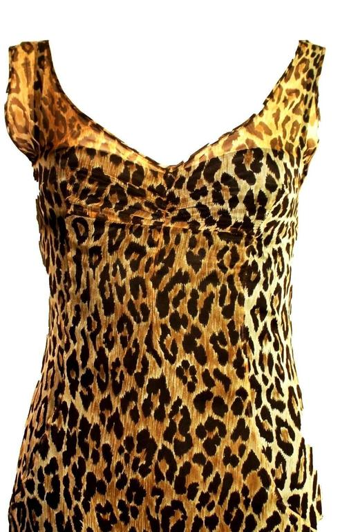 Stunning Dolce & Gabbana Corset Leopard Cheetah Print Silk Gown In Excellent Condition For Sale In Switzerland, CH