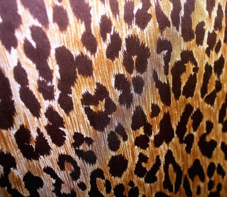 Stunning Dolce & Gabbana Corset Leopard Cheetah Print Silk Gown 8