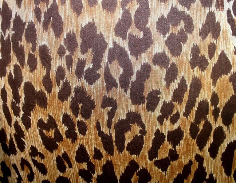 Stunning Dolce & Gabbana Corset Leopard Cheetah Print Silk Gown 9