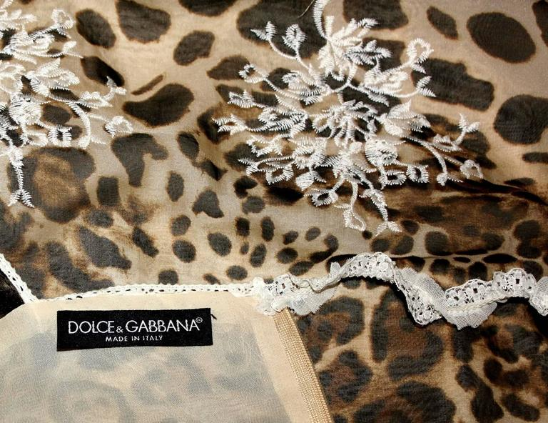 Stunning Dolce & Gabbana Leopard Cheetah Print Maxi Dress Gown For Sale 1