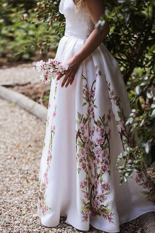 Amazing dolce and gabbana rose print evening gown wedding for Dolce and gabbana wedding dresses