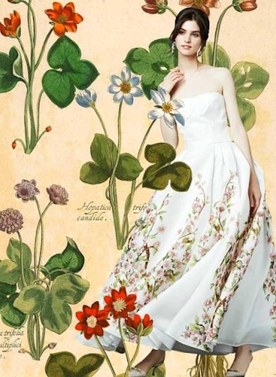 Amazing Dolce And Gabbana Rose Print Evening Gown Wedding