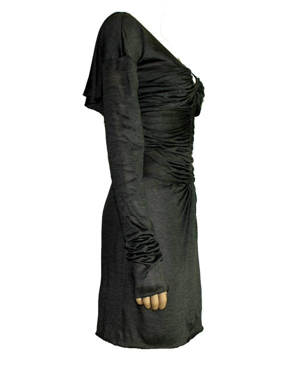 Gucci Tom Ford Spring 2003 Ruched Knitted Silk Dress In New Never_worn Condition For Sale In Switzerland, CH