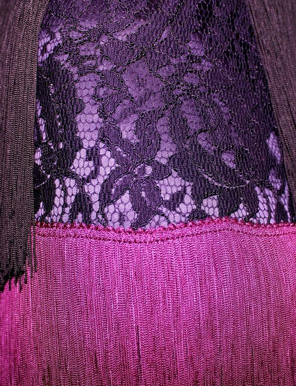 """Women's Dolce & Gabbana Fringe & Lace Flapper Dress in """"The Great Gatsby"""" Style For Sale"""