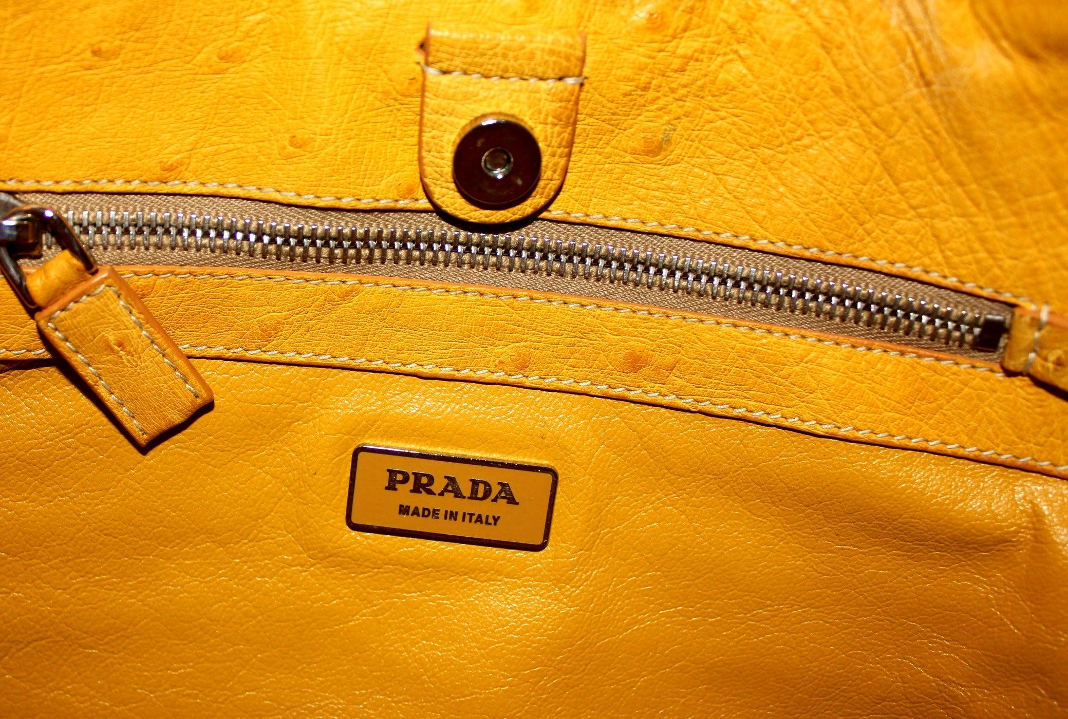 f65ae3a0a502 ... coupon for prada green alligator and yellow ostrich skin handbag at  1stdibs 5a8e8 fbc08