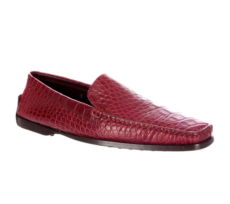 AMAZING TOD'S ALLIGATOR CROCODILE SKIN MOCCASINS