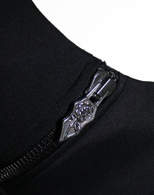 Women's Versace Black Corset Zip Dress For Sale