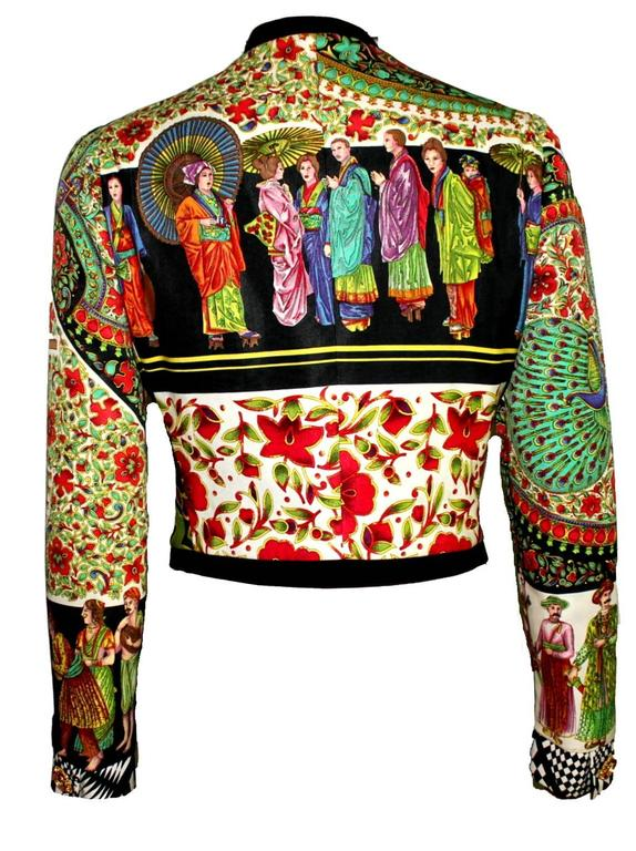 Rare 1992 Gianni Versace Couture Printed Silk Jacket 3