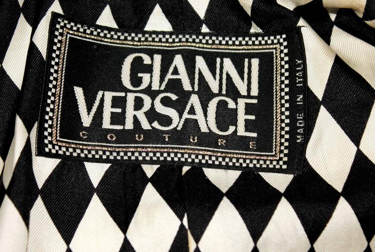 Rare 1992 Gianni Versace Couture Printed Silk Jacket 7