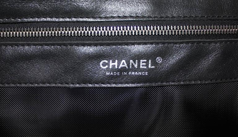 """Large Chanel CC Leather Logo """"Hidden Sequin"""" Mesh Tote with Pouch 8"""