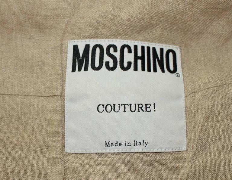 Extraordinary Moschino Couture! Wooden Pearl Beaded Top 4