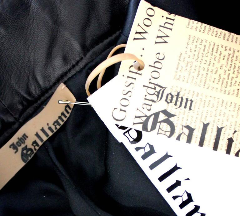 Finest John Galliano Buckle Silk Lambskin Leather Pants 5