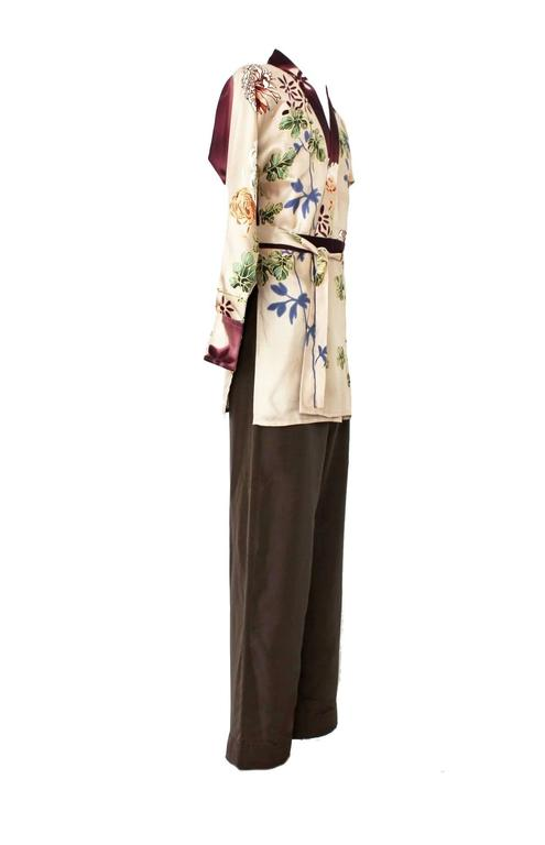 741d09f83 VERY RARE TOM FORD FOR GUCCI FLORAL KIMONO / DRESSING GOWN / ROBE AND PANTS  FROM