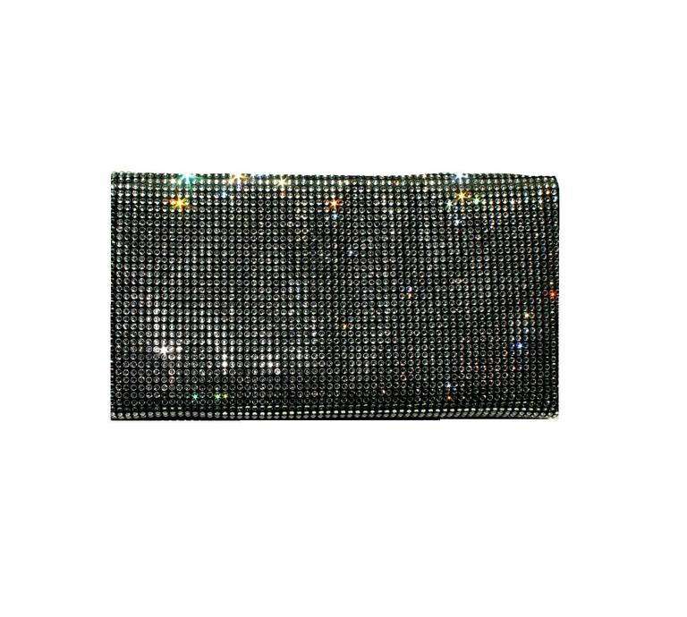 Stunning Dolce Gabbana Crystal Silk Evening Bag Clutch 5