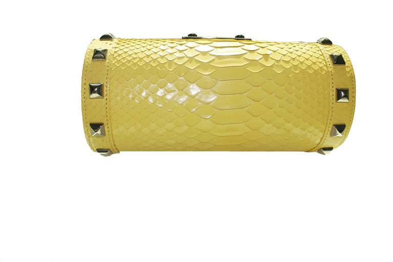 Versace Yellow Python Snakeskin Bag Jj0W3b5Y