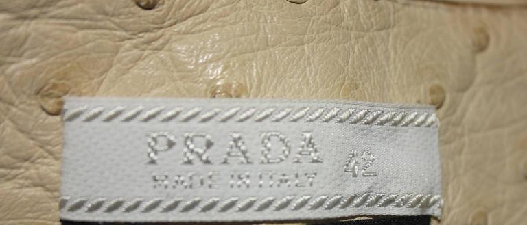 Prada Ivory Exotic Ostrich Skin Skirt For Sale 1