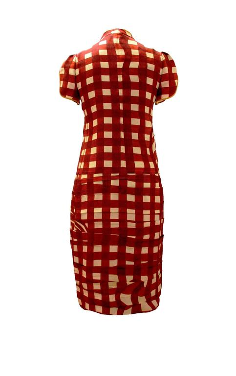 Stunning Prada Printed Pleated Silk Dress 4
