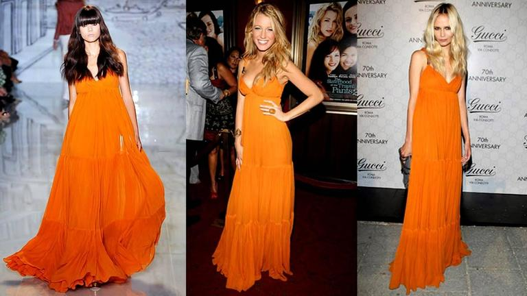 Blake's Stunning Gucci Plissee Evening Gown Dress 7
