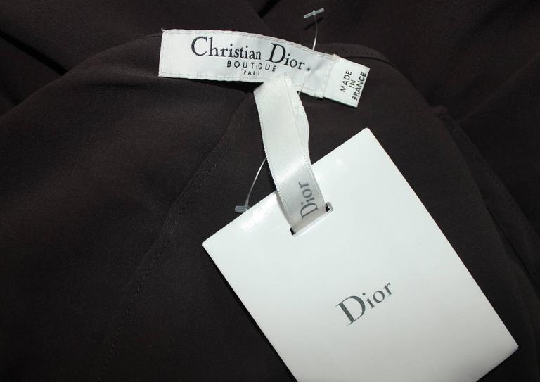 Dior Finest Full Length Ruffled Chiffon Silk Maxi Skirt  5