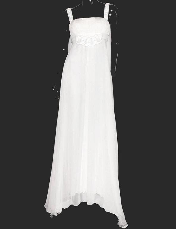 Stunning Versace Silk Evening Dress Wedding Gown 2