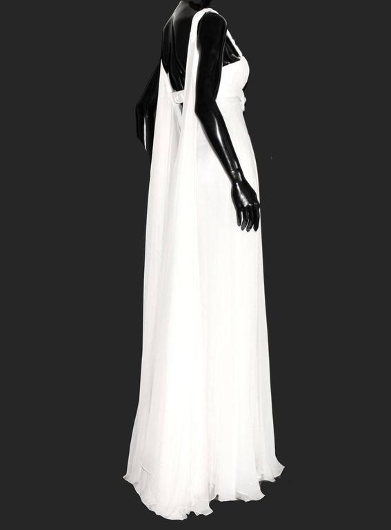Stunning Versace Silk Evening Dress Wedding Gown 4
