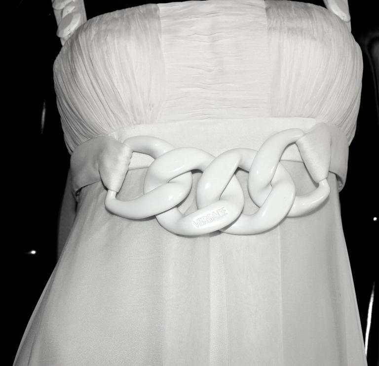 Stunning Versace Silk Evening Dress Wedding Gown 5