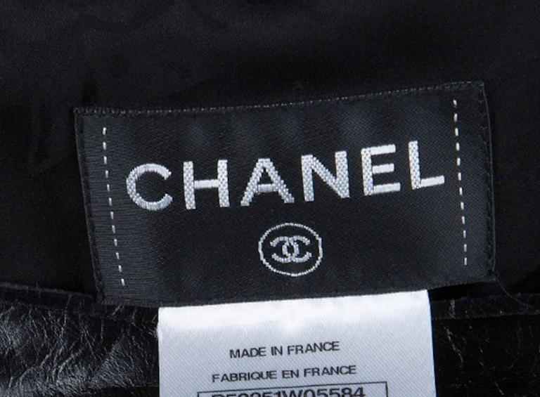 Stunning Chanel Black Leather & Tweed Dress  3