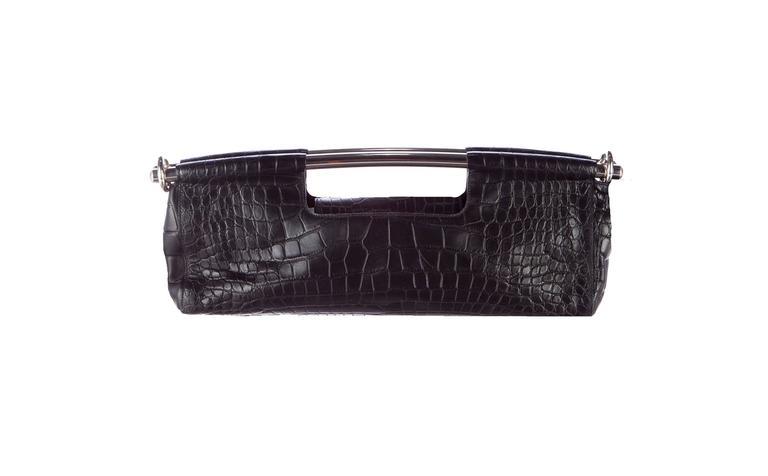 70f2d40450786 Prada Handbags Alligator Tote Black