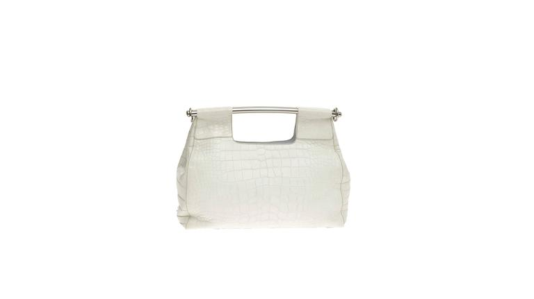 be9fc64d0b98 A stunning Prada Alligator Skin Handbag Finest white mat soft exotic skin -  no print In