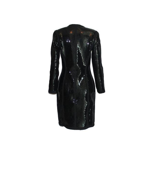 Amazing Black Chanel Sequin Silk Evening Dress Coat Jacket 6