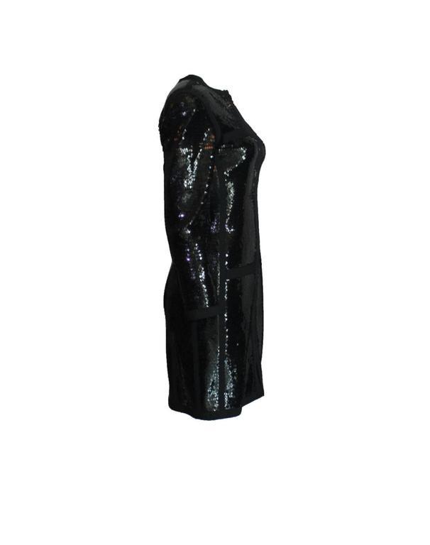 Amazing Black Chanel Sequin Silk Evening Dress Coat Jacket 5