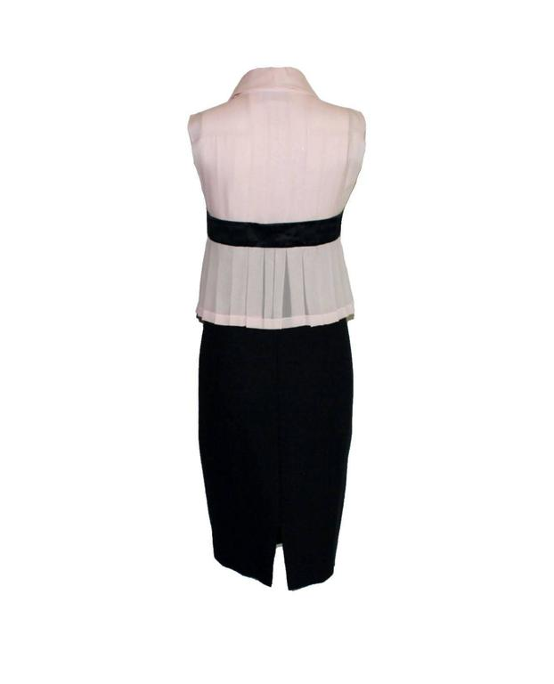 Chanel Pleated Signature Bow Silk & Boucle Dress  2