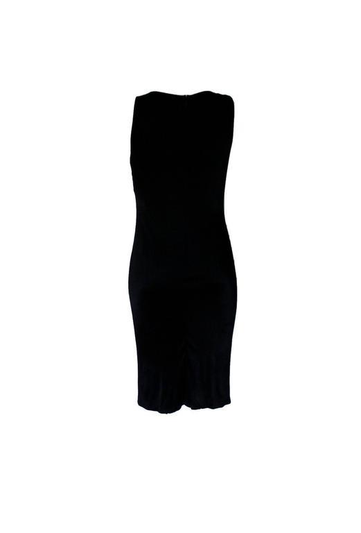 Stunning Versace Black Jersey & Leather Trim Dress 2